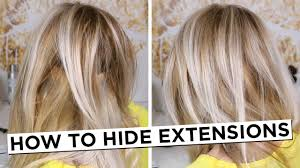 how to hide hair extensions youtube