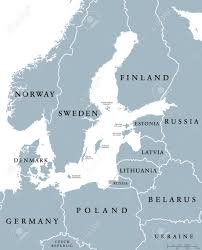 Baltic States Map Baltic Sea Area Countries Political Map With National Borders