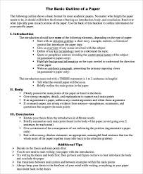 basic outlines basic research paper outline template nursing life pinterest