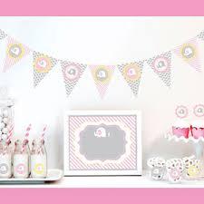 pink elephant decorations starter kit baby shower decorations