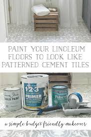 how to paint your linoleum or tile floors to look like patterned