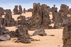 stone desert stone desert tassili maridet libyan desert libya sahara north