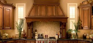Kitchen Wood Kitchen Hood With Brown Cabinet Stainless Steel - Stainless steel cooktop backsplash