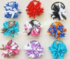 korker ribbon 16pcs handmade curlers 2 5 bows flower corker hair barrettes