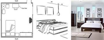 rectangular bedroom furniture arrangement