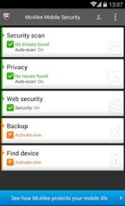 mcafee mobile security apk mcafee antivirus and security 4 9 4 1205 for android