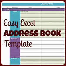 Address Template For Excel S Plans Easy Excel Address Book Template