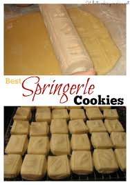 springerle cookies recipe german cookies surface pattern and