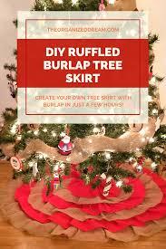 diy ruffled burlap tree skirt the organized