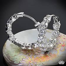 inside out diamond hoop earrings agbf inside out diamond hoop earrings 2809