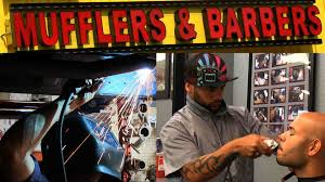 a muffler shop doubles as a barershop in east orlando orlando