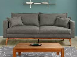 canapé gris 3 places canapé 3 places en tissu coloris gris acadia 70 s