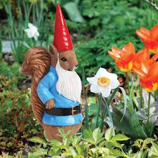 Garden Nome by Finkledus The Squirrel Resin Garden Gnome Statue Walmart Com