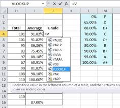 excel formula help u2013 vlookup for changing percentages to letter grades