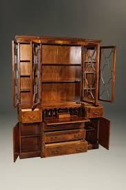 Antique Secretary Desk With Bookcase by Baker Furniture Company Colonial Revival Styled Breakfront