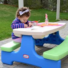 little tikes easy store picnic table little tikes easy store jr table with umbrella multi colored
