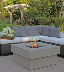 Concrete Firepits 36 Concrete Pit With Black Rocks Town Country Event Rentals