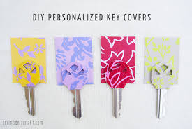 personalized scrapbook diy personalized key covers from scrapbook paper