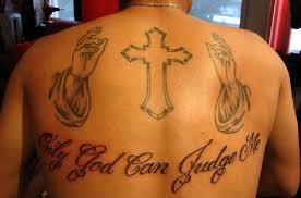 back cross tattoos and piercings
