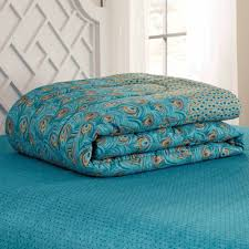 Peacock Feather Comforter Mainstays Bed In A Bag Bedding Comforter Set Peacock Feather