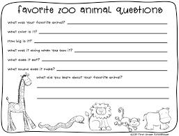 zoo animals writing classroom freebies summer and