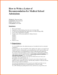 medical letter of recommendation template template idea