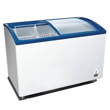 251l curved glass sliding display 2 door ice cream freezing chest