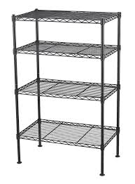 Commercial Wire Shelving by 4 Tier Wire Shelving Unit Storage Rack Metal Adjustable Shelf