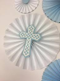 White And Gold Baptism Decorations Christening Decorations Boys 1st Birthday Baby Blue And