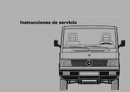 mercedes benz manual mb 100 instrucciones de servicio w631