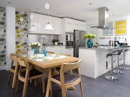 wonderful open kitchen design ideas with nice dining table set