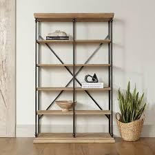 Bookcase 5 Shelf La Salle Metal And Wood 5 Shelf Bookcase 18x24 Lamps Plus