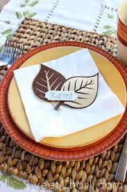 thanksgiving table name cards nature inspired dinner place cards sweet charli