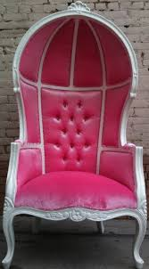 pink u0026 white porters chair princess queen diva throne egg hooded