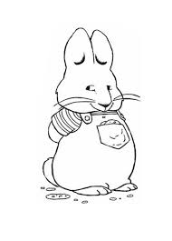 chubby max standing waiting for ruby in max and ruby coloring page