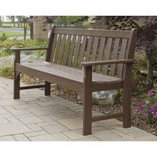 Outdoor Dining Bench Polywood Vineyard Recycled Plastic Garden Bench Hayneedle