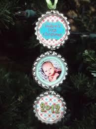 baby s ornament 2012 bottlecap ornament