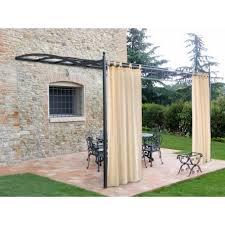 tende gazebi tende a bretella per gazebo in cotone ecru 160x270h arredo giardino