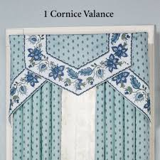 chalet bleu cornice valance window treatment