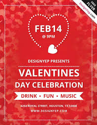 valentines flyer template day free flyer psd template