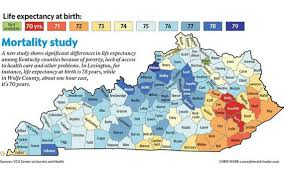 Map Of Kentucky State by Where You Live In Kentucky Might Cut Eight Years Off Your Life