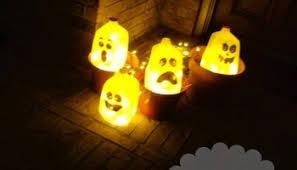Halloween Decorations Using Milk Jugs - diy free halloween decorations tree ghosts craft sweethaute