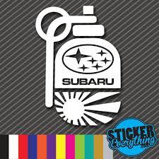 subaru decals subaru rising sun grenade vinyl sticker decal jdm japan bomb wrx