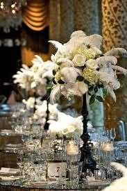 Feather And Flower Centerpieces by Centerpiece With Feathers Nye Gatsby Art Deco Speakeasy