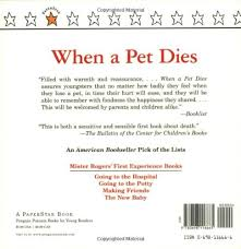 when a pet dies fred rogers 8601300374536 books