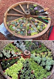 20 truly cool diy garden bed and planter ideas wagon wheels