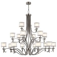 kichler track lighting kichler 42396ap lacey antique pewter lighting chandelier kic 42396ap