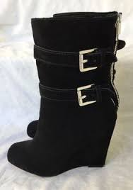 ebay womens winter boots size 11 baretraps emalyn gray suede faux fur winter boots size 8