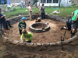 sunken fire pit my projects pinterest sunken fire pits