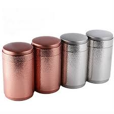 kitchen storage canister pitting metal canister tea caddy tin jar coffee can kitchen